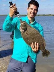 Ethan Falcon caught this flounder while fishing at