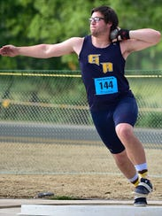 Greencastle's Campbell Parker competes in the shot