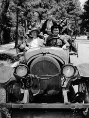"The cast of TV's ""The Beverly Hillbillies"" are seen"