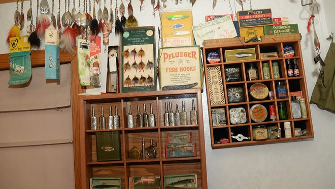 Whether it's lures, hooks, sinkers or reel-oiler cans, chances are Jim Fritz has it in his collection of fishing tackle.
