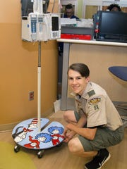 Eagle Scout Preston Vaughan and UMMC nursing students