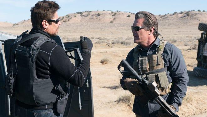 """Benicio Del Toro (left) and Josh Brolin take the drug war to the next level in """"Sicario: Day of the Soldado."""""""