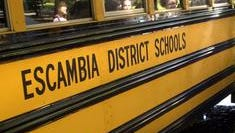 And Escambia County school bus was involved in a minor accident Monday morning. No one on board the bus was injured.