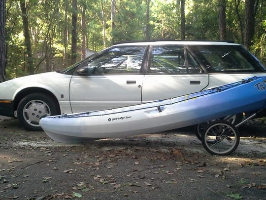 Tallahassee Police say a robbery suspect fled in this car Sunday.