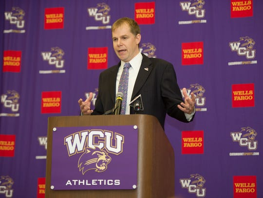 Mark Prosser was announced last March as WCU's new head basketball coach.