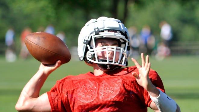 Christ School quarterback Landon Archangelo.
