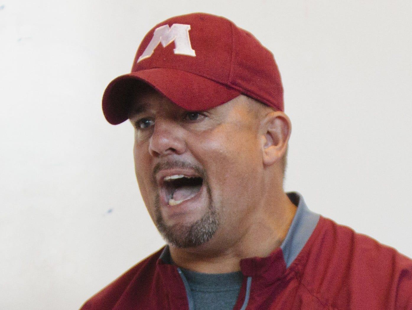 Muskegon head coach Shane Fairfield.