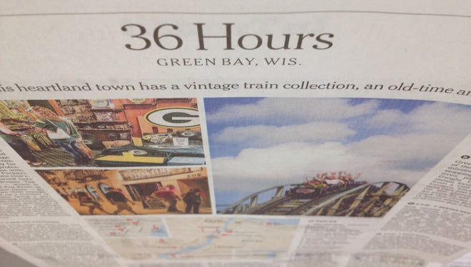 The New York Times last weekend published a travel writer's in-depth assessment of Green Bay.