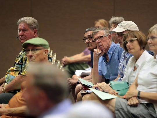 Attendees to the Palm Springs Planning Commission meeting
