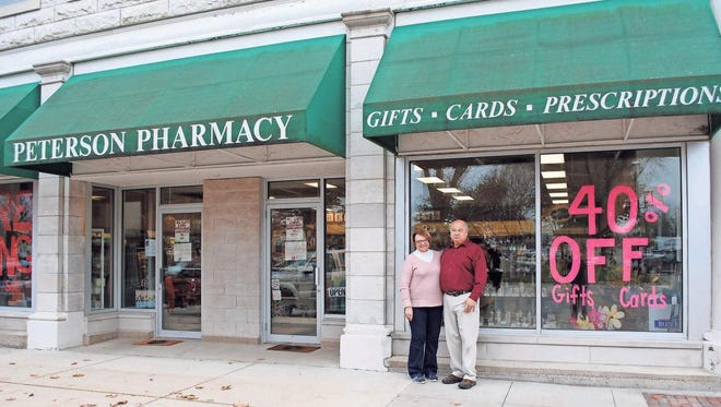 Peterson Pharmacy, Marengo, closed its doors Saturday, Nov. 25, as owners Tom and Theresa Ryan retired after owning and operating the business on the town square for over a quarter of a century.