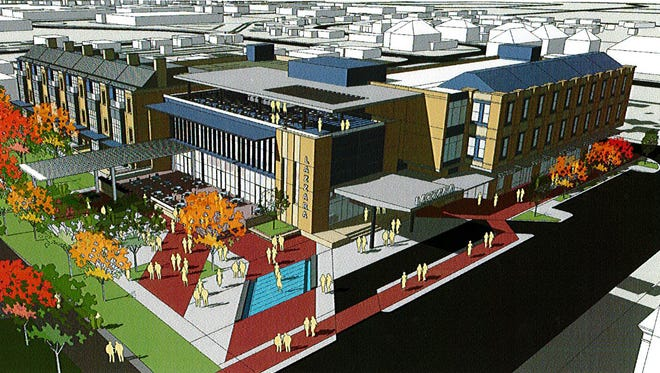 Construction will start this year on a multi-use development at the Monon and Main crossing.