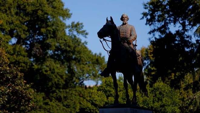 The statue of Nathan Bedford Forrest