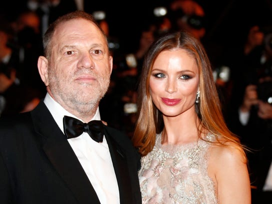 Harvey Weinstein and his wife, Georgina Chapman, at