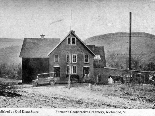 Early postcard photo of Richmond creamery.