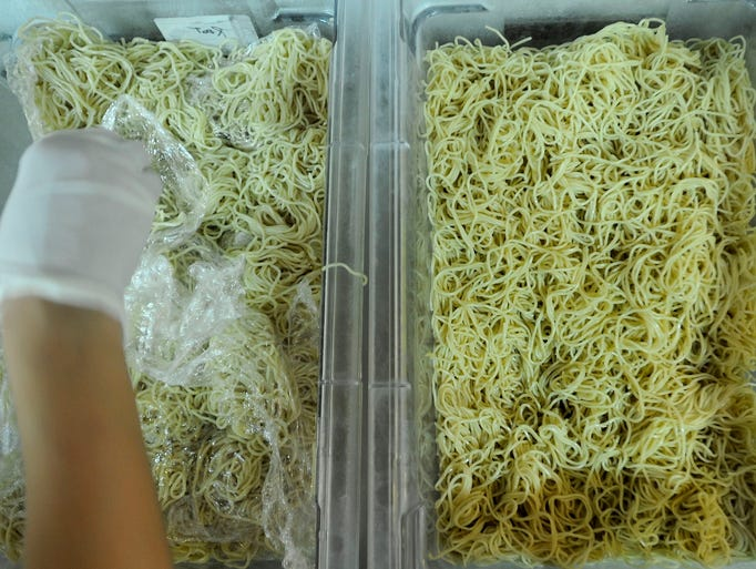 Every chef was supplied with ramen noodles  at the