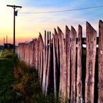 Old fence in Bynum along US Highway 89, opposite Two Medicine Dinosaur Center