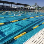 Swimmers get ready for the Arena Pro Wwim Series in Mesa.