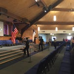 The procession begins for the Faith Christian School commencement ceremony Saturday, May 23, 2015.