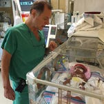 Dr. Marc de Soler is one of the doctors in St. Francis Medical Center's neonatal intensive care unit.