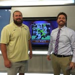 Josh Sitton, left, and BlabTV sports anchor D.C. Reeves