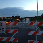 Water forced a road closure on Chestnut Expressway near I-44 on Sunday evening.