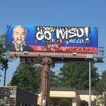 Moran & Morgan designed a new billboard showing support for Mississippi State University.