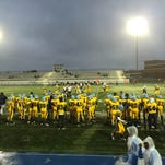 The Cape Henlopen football team defeated Polytech on Thursday 47-0. The teams played in a torrential downpour.