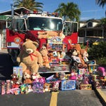 These items were donated by Burnt Store Marina residents during the 2014 toy drive.