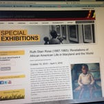 The website for the Reginald F. Lewis Museum features the special exhibit of the work of painter Ruth Starr Rose.