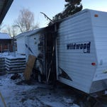 A turkey fryer caught fire Thursday and destroyed a camper on the 2800 block of 6th Avenue South in Great Falls.