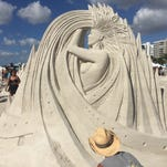Images from the 2015 Sand Sculpting Championships American at the Wyndham Garden Hotel on Fort Myers Beach Saturday 11/28/2015.  The event presented by the Fort Myers Beach Chamber of Commerce and the Beaches of Fort Myers and Sanibel.