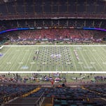 Louisiana Tech's band takes the field Saturday in the New Orleans Bowl.