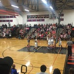 The Marine City and St. Clair varsity girls basketball teams compete at the Pink Halo Project