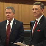 Sen. Kerry Roberts (left) and Rep. Dan Howell (right) on Monday announced their plans to make changes , including verifying the assets of someone who receives public benefits, to the state's welfare system.
