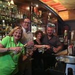 Participting in the Bartender Showdown at Rocco's Bar and Grill are (from left to right) Robbin Salmeri, Michael Odell, Dr. Allison Adams and Gino Iossa.