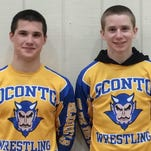 Elton Kelsey and Aiden Wusterbarth of Oconto both qualified Saturday for the state wrestling tournament in Madison.