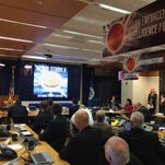 Secret Service Director Joe Clancy speaks during the kick off Cyber Storm V in Washington, Tuesday, March 8, 2016.