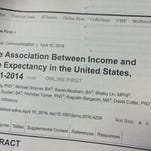A study published this week by the Journal of the American Medical Association examines the impact of income of life expectancy. The spoiler: Income isn't as big a factor as other health behaviors like smoking or excess weight.