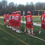 The Ocean Township boys lacrosse team played St. John Vianney on April 22