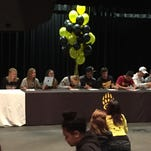 Galena had 12 athletes sign letters of intent Thursday at the school.