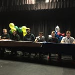 McQueen had nine athletes sign letters of intent Friday in a ceremony at the school.
