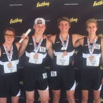 From left to right: Ryan Talbott, Brandon Wiese, Emmett Smrcka and Austin Wicker went to New Balance Nationals Outdoor in Greensboro, N.C., last week and took fifth in the distance medley relay competition.