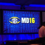 Auburn is expected to lead off Monday at the 2016 Southeastern Conference media days at the Hyatt Regency in Hoover, Ala.