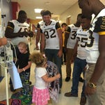 VIDEO: USM football visits Jackson