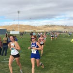 Ocegueda, Moyer race past field in cross country