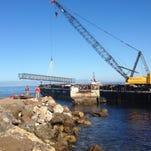 Storm-damaged pier replaced on Santa Cruz Island