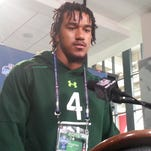 Vic Beasley said he has added about 10 pounds since completing his senior season at Clemson but thatthe gain hasn't affected his speed.