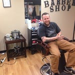 Derrick Coffelt is the owner and operator of the newly opened Big Derrick's Barber Shop in the Reed Opera House.