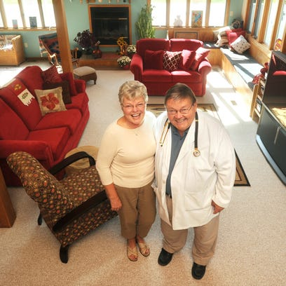 Dr. Jeffrey Haggenjos and his wife Cherl in their New