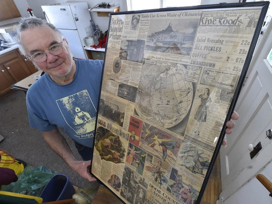 One of the preserved sections of the Milwaukee Journal, Milwaukee Sentinel and Door County Advocate newspapers boasts fish fries, fashion and Flash Gordon, among WWII stories according to Ed Miller. Jars of pickles were 23 cents. Layers of the newspapers were discovered in the flooring of the Upper Range Lighthouse in Baileys Harbor.